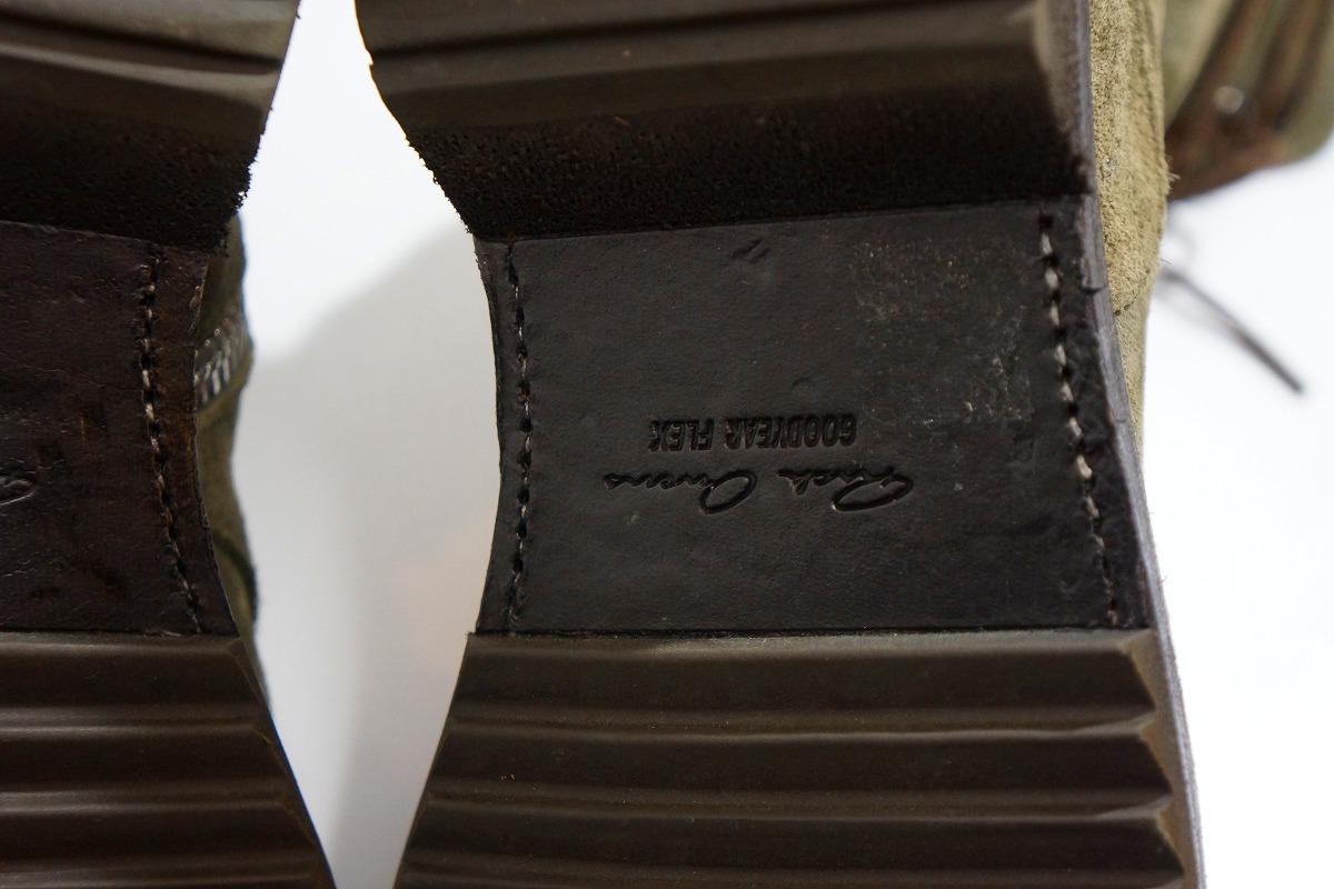 国内正規Rick Owens リックオウエンス サイドジップ レースアップ スエード レザー ブーツ サイズ39 1/2 GOODYEAR FLEX 本物 灰117L▲_画像8