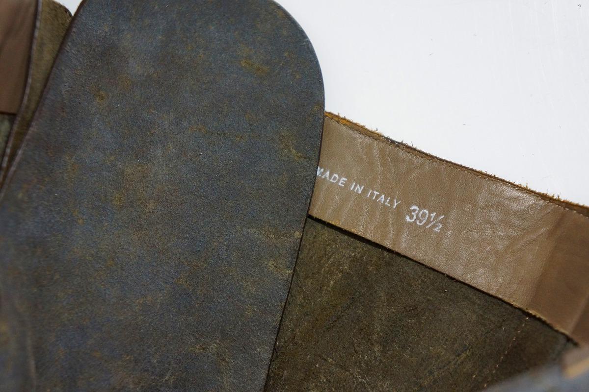 国内正規Rick Owens リックオウエンス サイドジップ レースアップ スエード レザー ブーツ サイズ39 1/2 GOODYEAR FLEX 本物 灰117L▲_些細な薄汚れがあります。