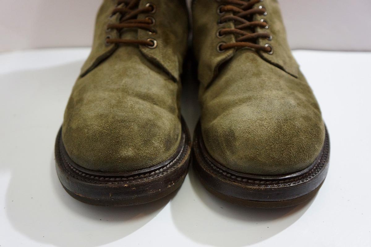 国内正規Rick Owens リックオウエンス サイドジップ レースアップ スエード レザー ブーツ サイズ39 1/2 GOODYEAR FLEX 本物 灰117L▲_些細な擦れがあります。