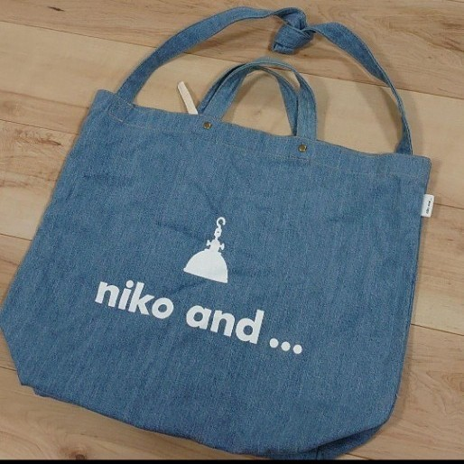 niko and  トートバッグ デニム niko and... バッグ