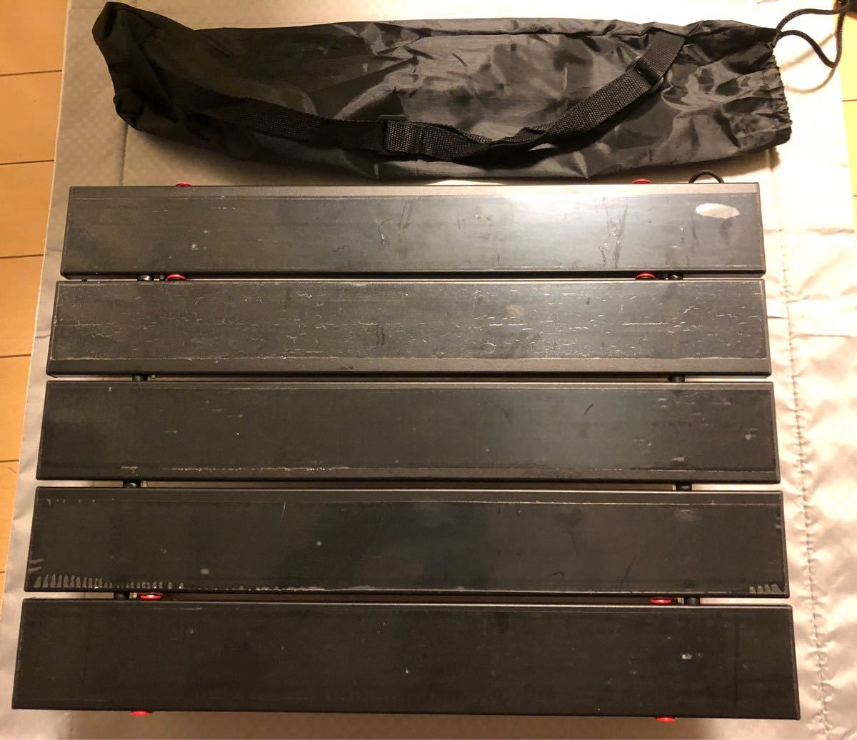 アルミロールテーブル  折り畳みテーブル アウトドアテーブル 専用ショルダー収納袋付き