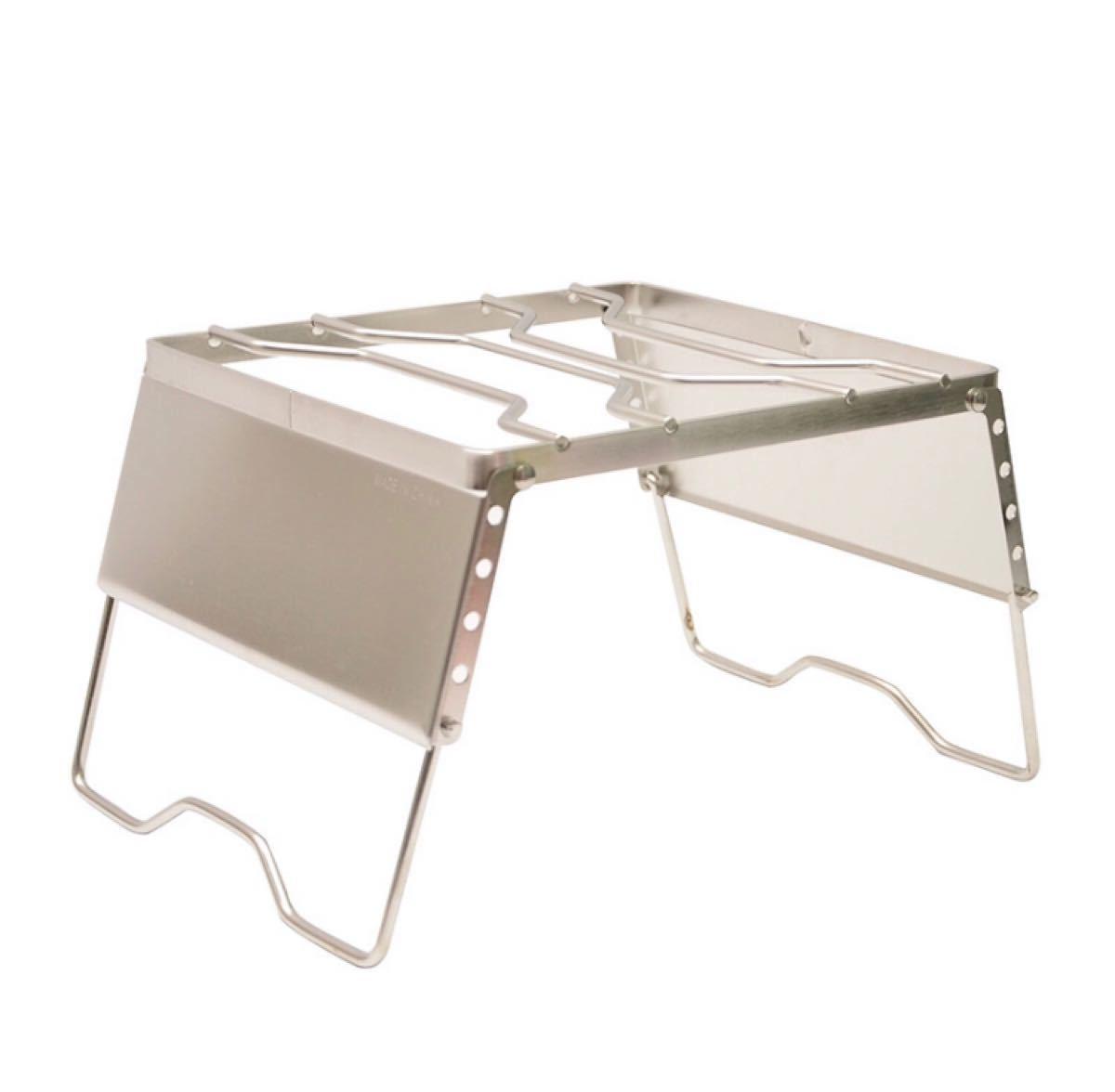 シングルバーナースタンド クッカースタンド グリルスタンド 風防板付き 高さ調整可能