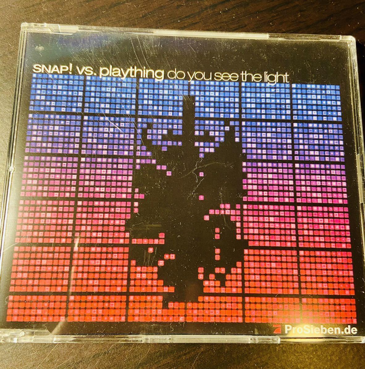 SNAP! vs. plaything do you see the light 4バージョン入シングルCD 一度のみ試聴 2002年 送料無料