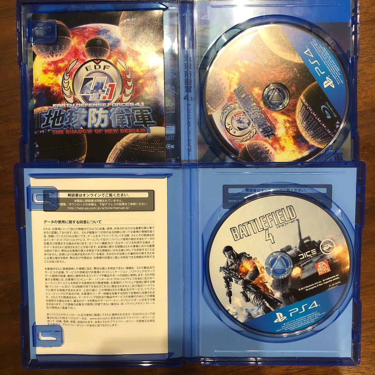 PS4ソフト 地球防衛軍4.1 バトルフィールド4 セット まとめ ゲームソフト