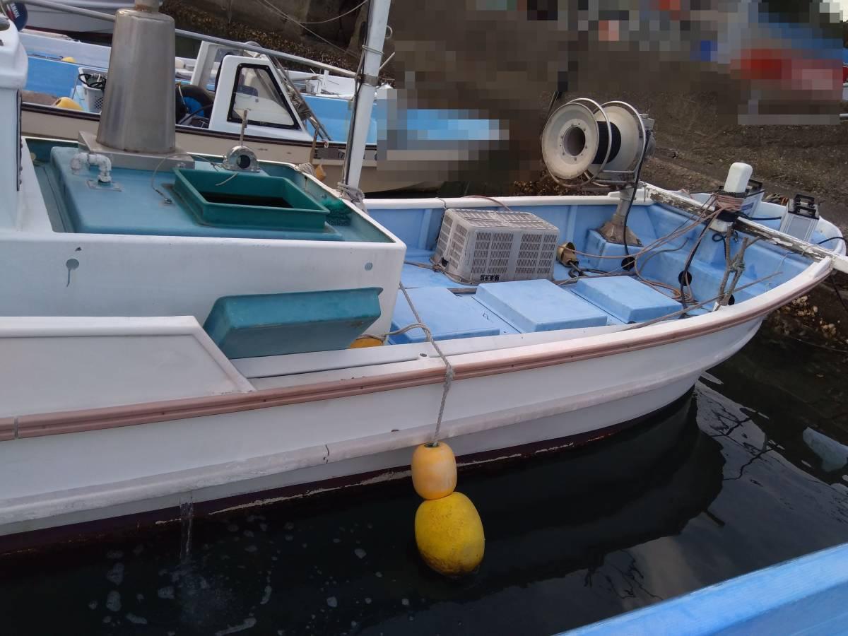 「★条件付き値引き-70,000★現状渡し 和歌山 漁船 エビ網船 23フィート 差し舵 」の画像1