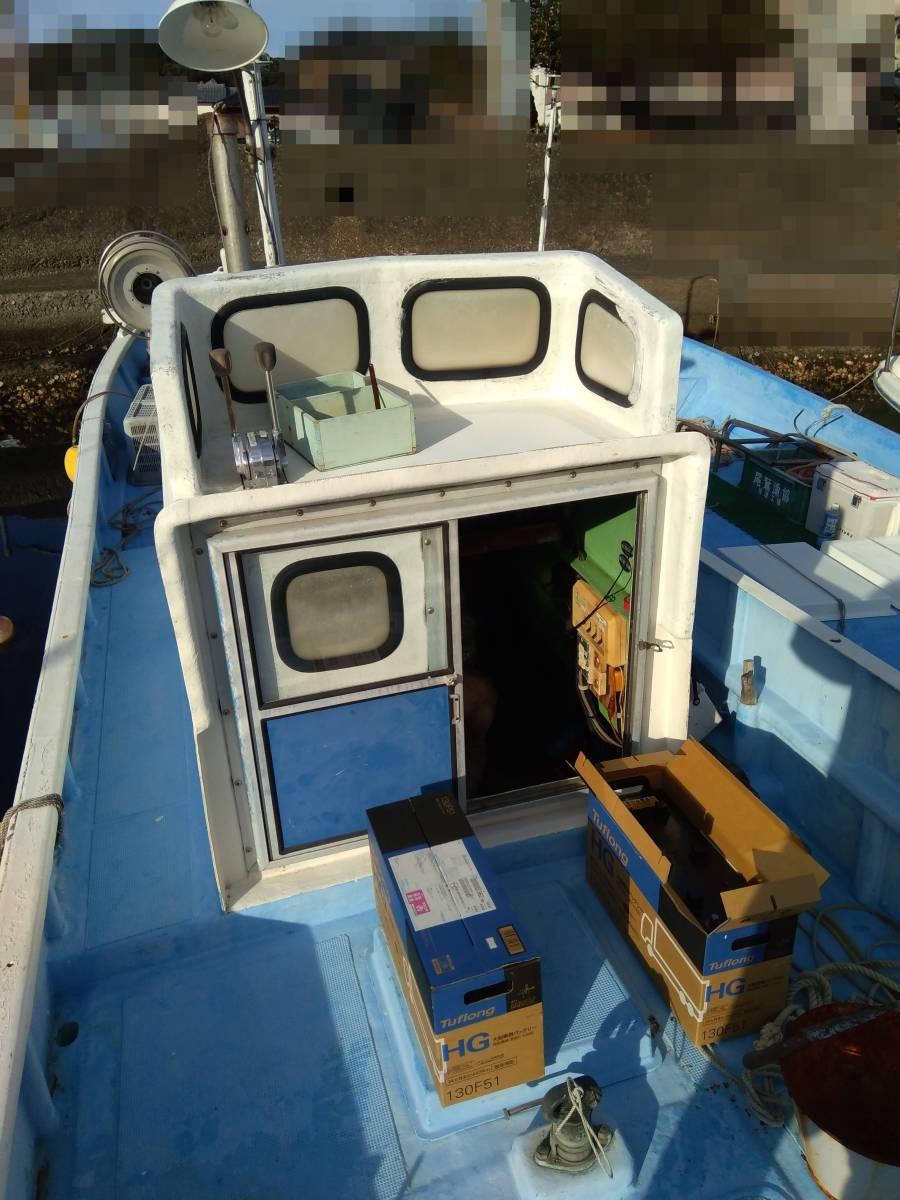 「★条件付き値引き-70,000★現状渡し 和歌山 漁船 エビ網船 23フィート 差し舵 」の画像3