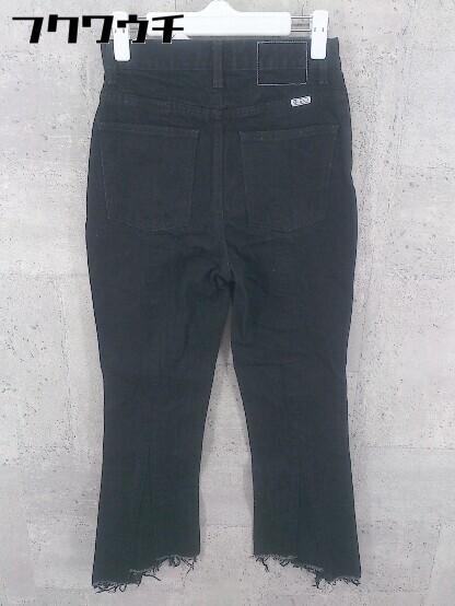 ◇ SLY スライ カットオフ ジーンズ デニム パンツ サイズ24 ブラック レディース_画像2