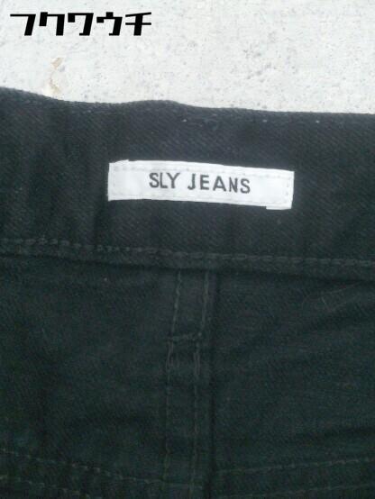 ◇ SLY スライ カットオフ ジーンズ デニム パンツ サイズ24 ブラック レディース_画像3