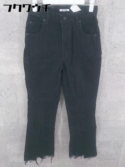 ◇ SLY スライ カットオフ ジーンズ デニム パンツ サイズ24 ブラック レディース_画像1