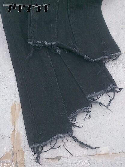 ◇ SLY スライ カットオフ ジーンズ デニム パンツ サイズ24 ブラック レディース_画像6