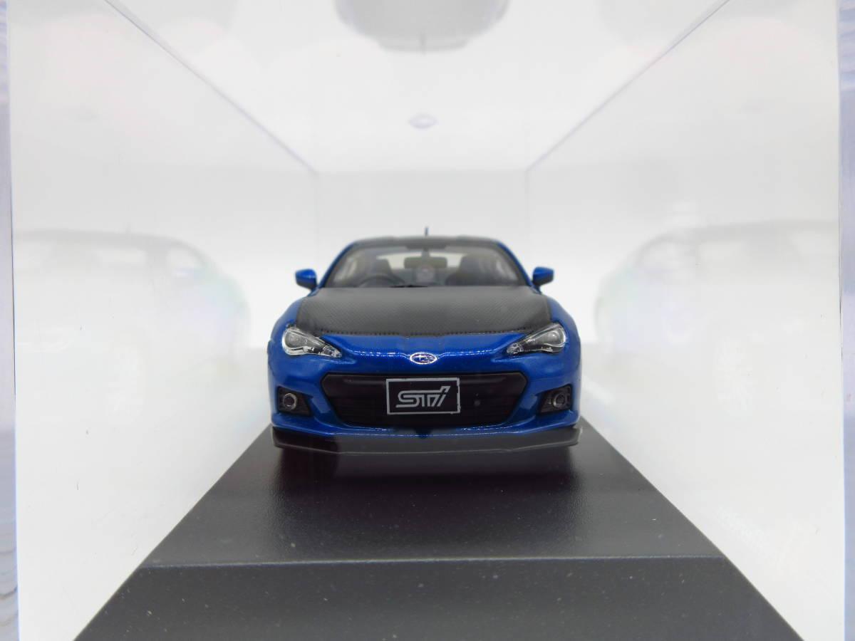 1/43 京商 J-collection スバル BRZ STI 東京オートサロン2012 限定品 ミニカー version Blue_画像3