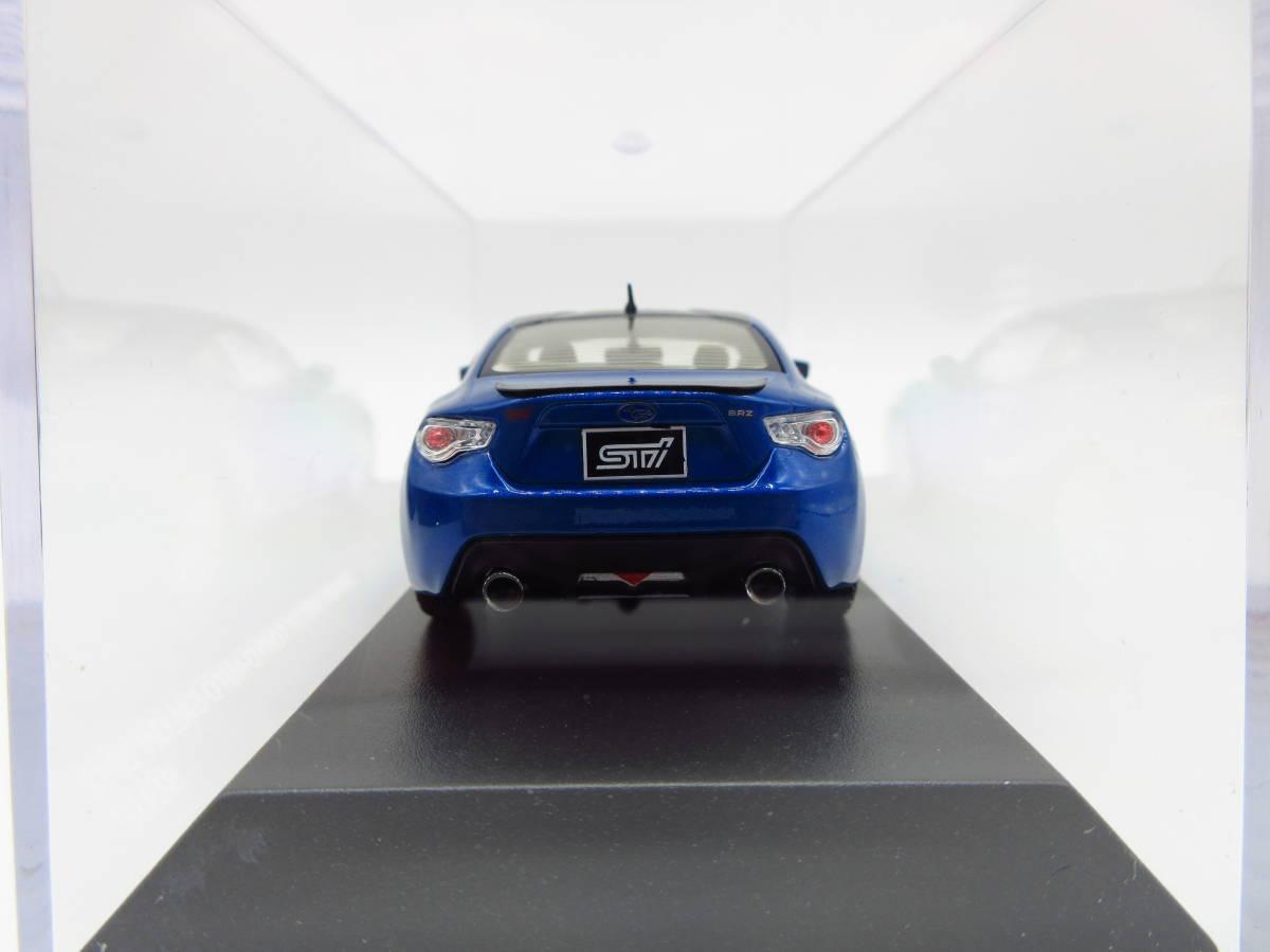 1/43 京商 J-collection スバル BRZ STI 東京オートサロン2012 限定品 ミニカー version Blue_画像4