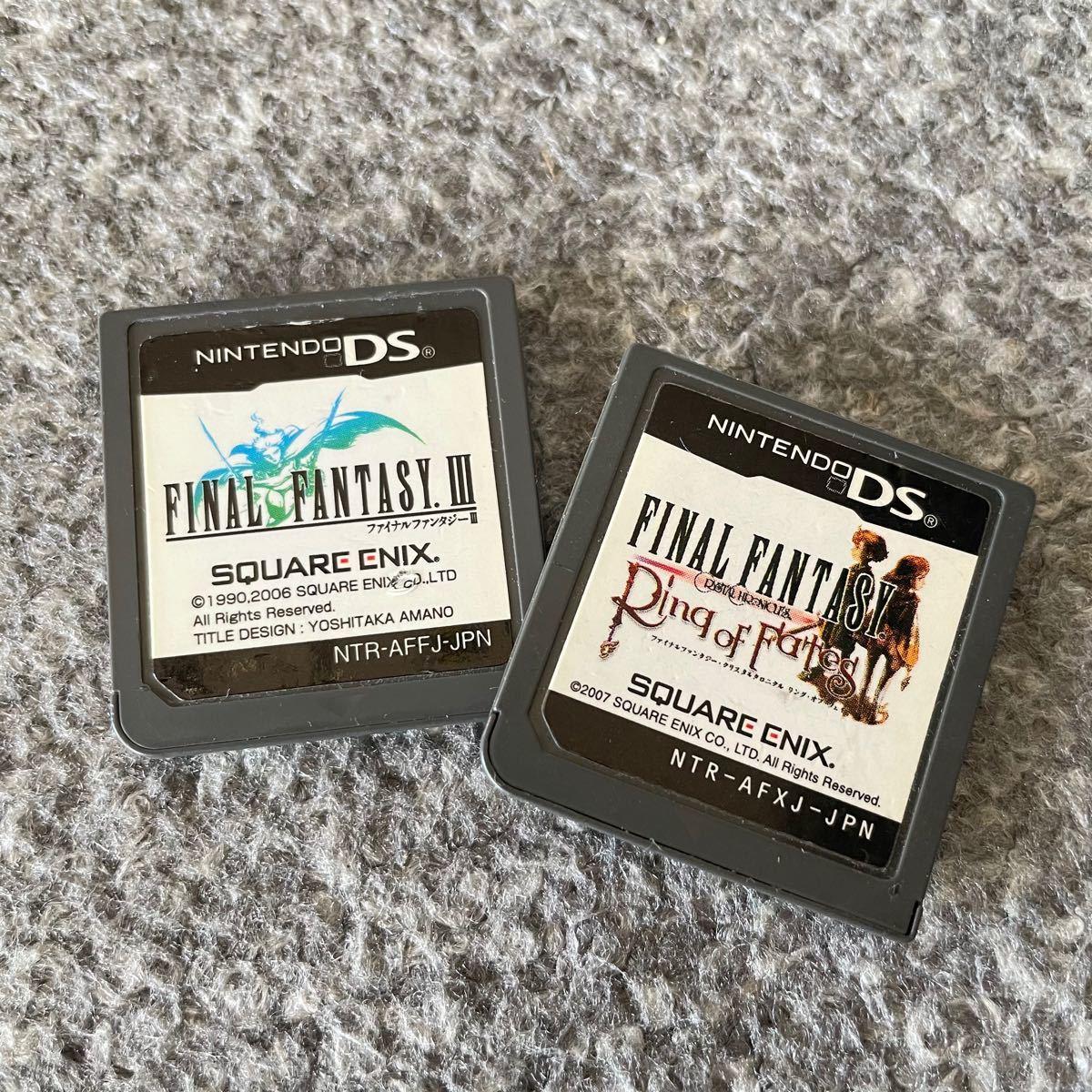 ファイナルファンタジー3、クリスタルクロニクル リングオブフェイト 中古DSソフト2本セット☆FF3