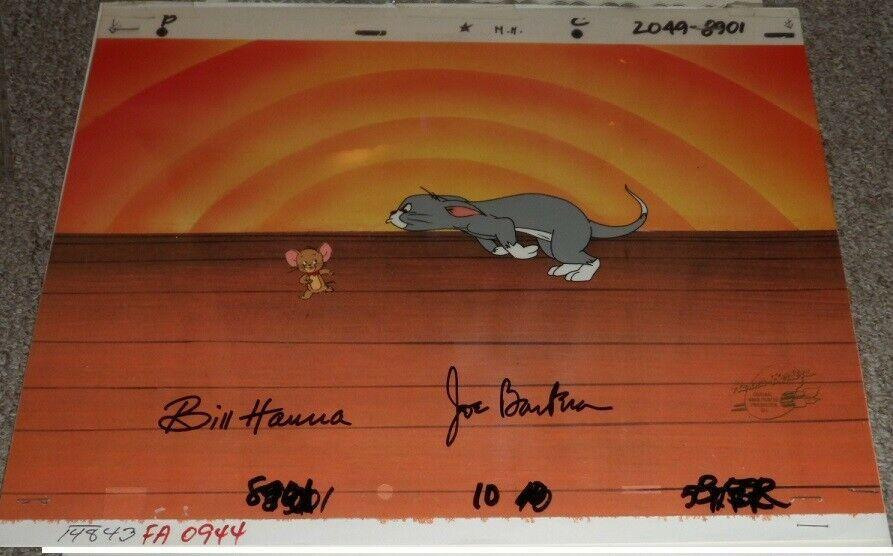 Disney ディズニー トムとジェリー サイン付き セル画 原画 限定 レア 入手困難