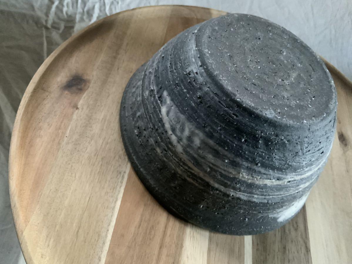 70 黒御影土 刷毛目 どんぶり 大鉢 丼 陶器 和食器_画像6