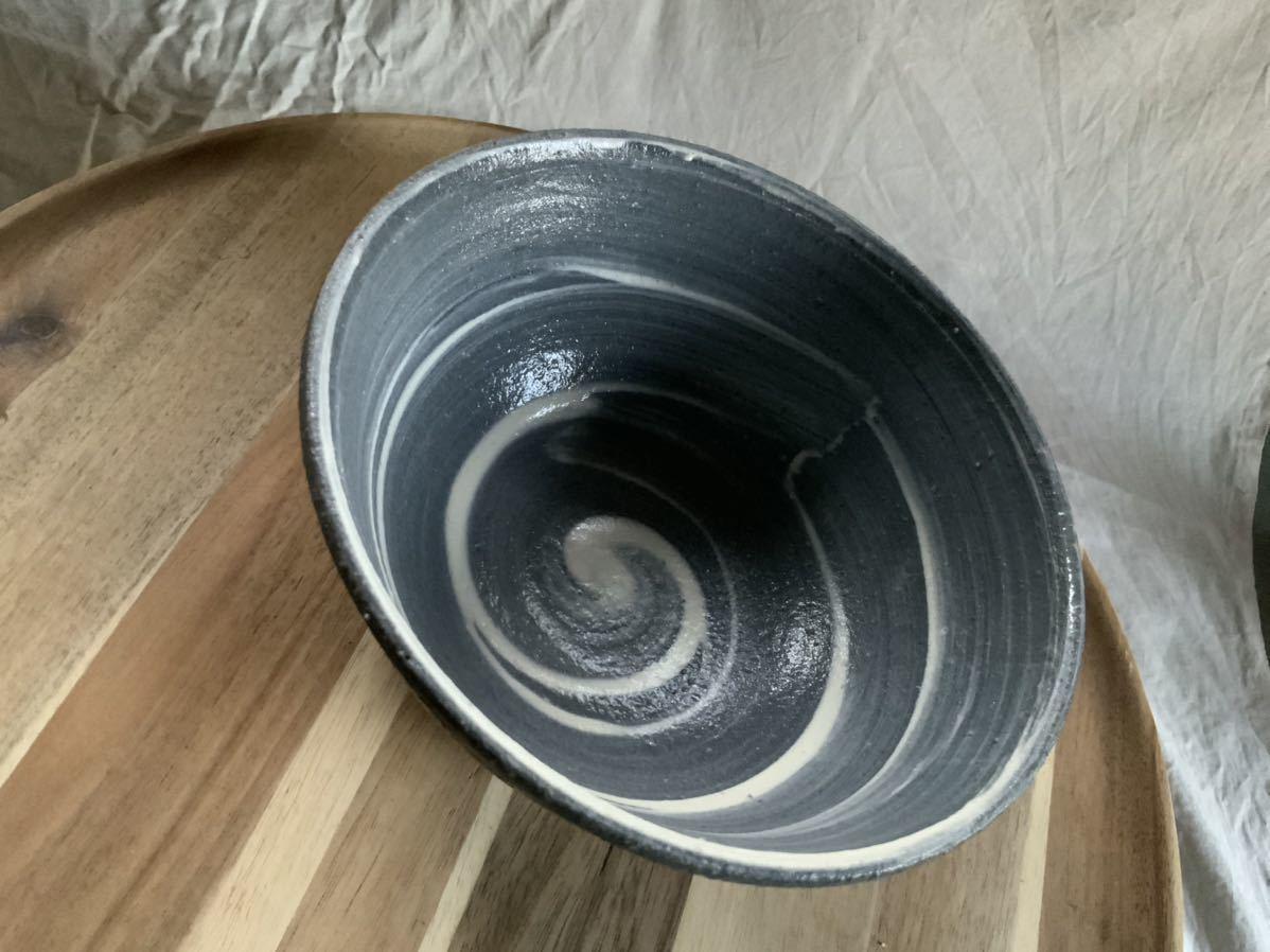 70 黒御影土 刷毛目 どんぶり 大鉢 丼 陶器 和食器_画像4
