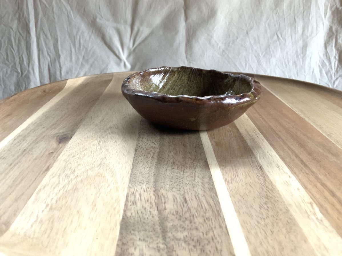 144 小皿 取り皿 焼き締め 醤油皿 オブジェ インテリア 陶器 和食_画像3