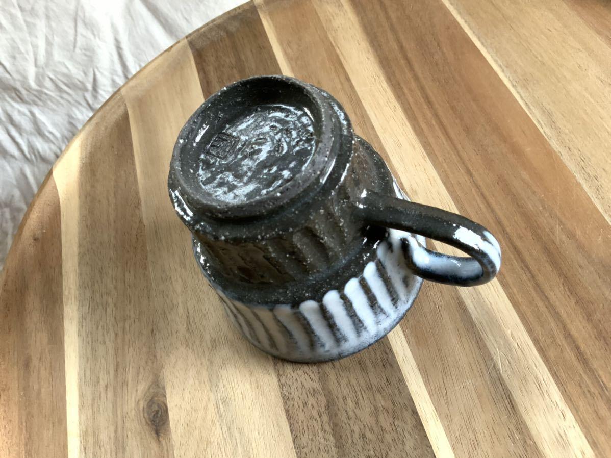 146 黒御影土 マグカップ コーヒーカップ オブジェ インテリア 陶器 釉薬_画像4