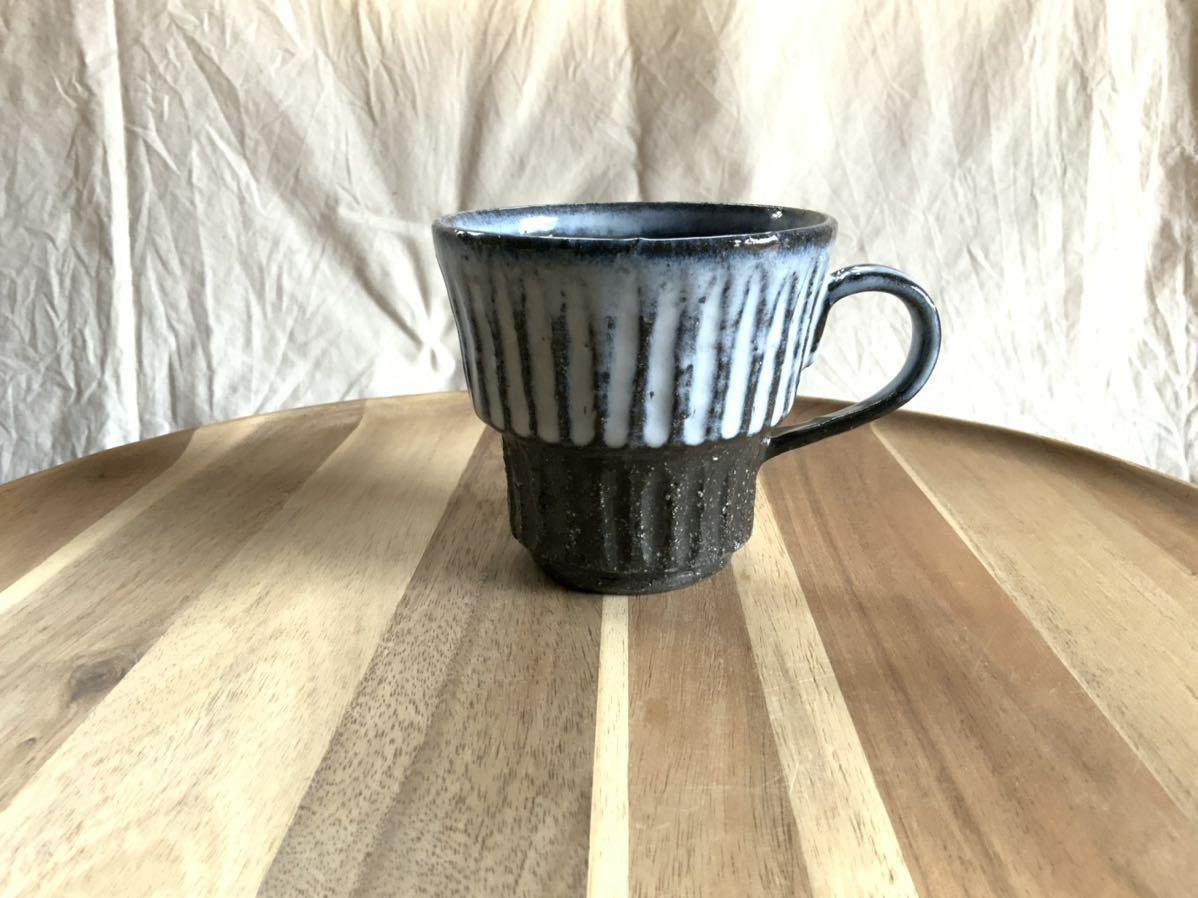 146 黒御影土 マグカップ コーヒーカップ オブジェ インテリア 陶器 釉薬_画像1
