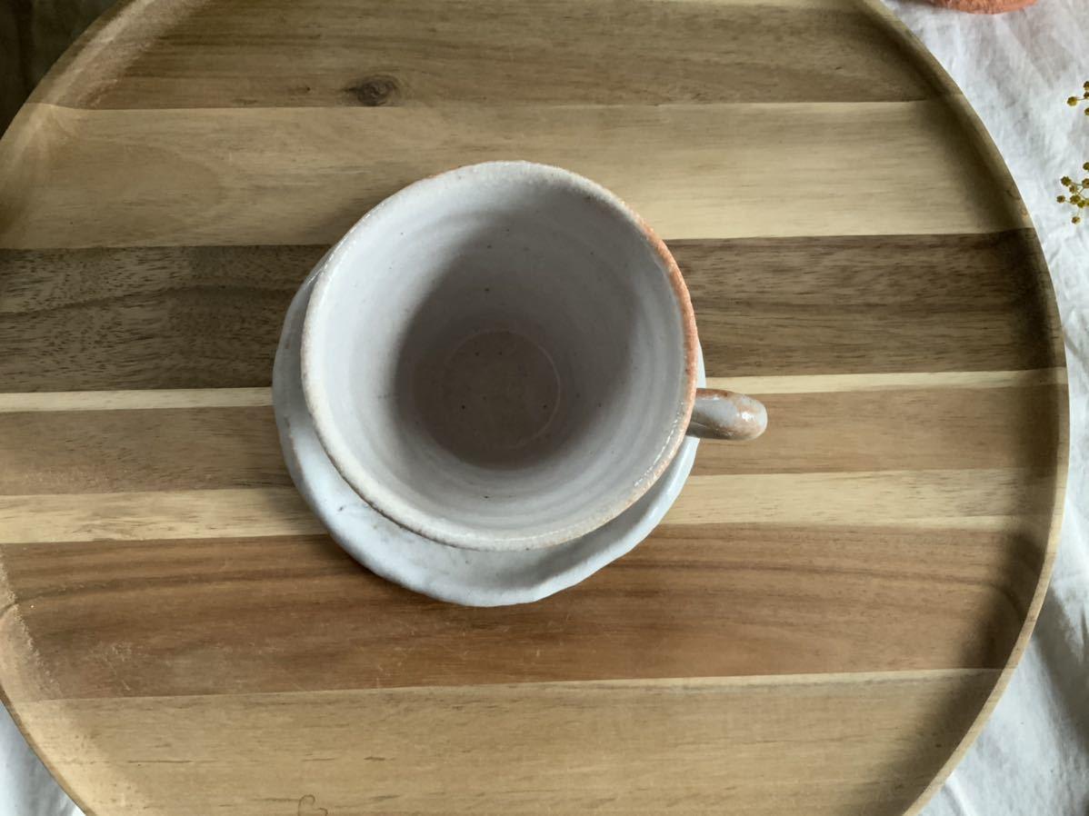152 カラー 花 志野 カップ&ソーサー マグカップ コーヒーカップ オブジェ ティーカップ インテリア 陶器 釉薬_画像3