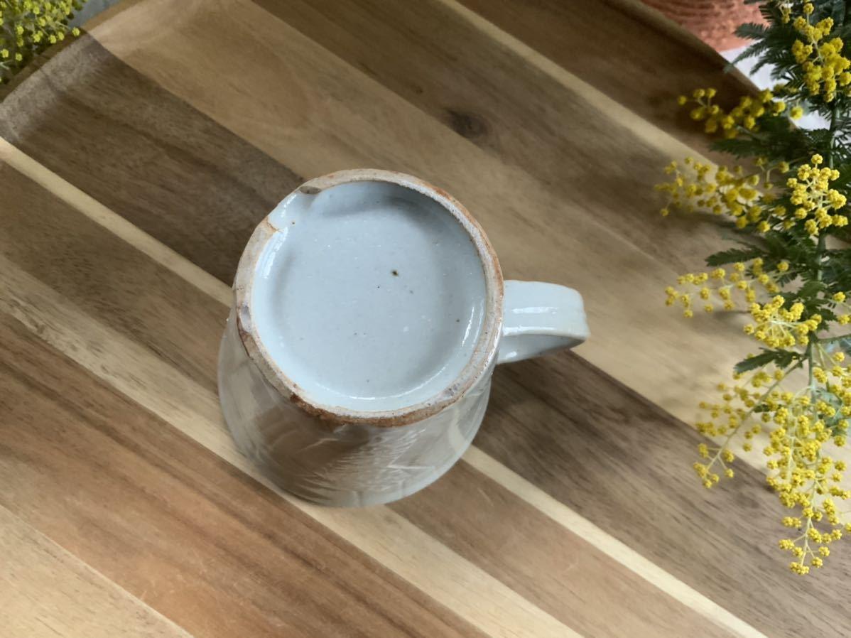 162 マグカップ コーヒーカップ ホワイト オブジェ インテリア 陶器 釉薬 アスタリスク_画像5
