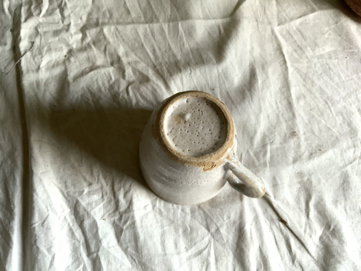 173 花の絵 志野 マグカップ コーヒーカップ ティーカップ オブジェ インテリア 陶器 釉薬 珈琲 食器 草花_画像7