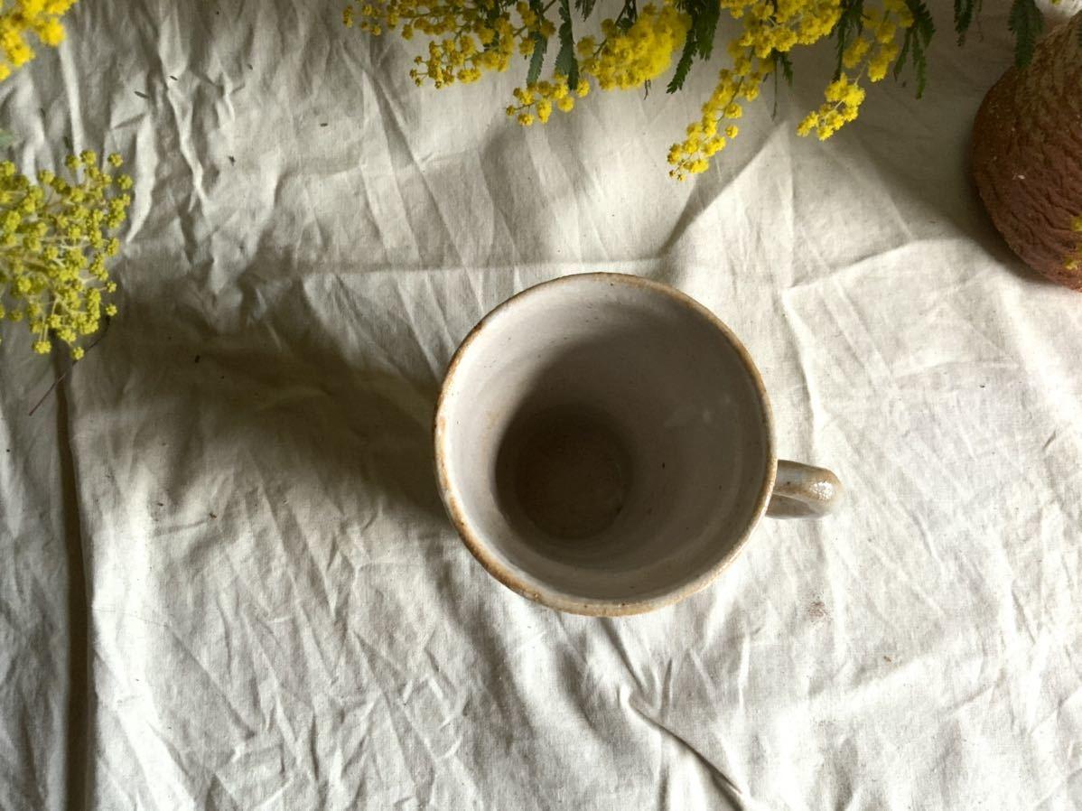 173 花の絵 志野 マグカップ コーヒーカップ ティーカップ オブジェ インテリア 陶器 釉薬 珈琲 食器 草花_画像4