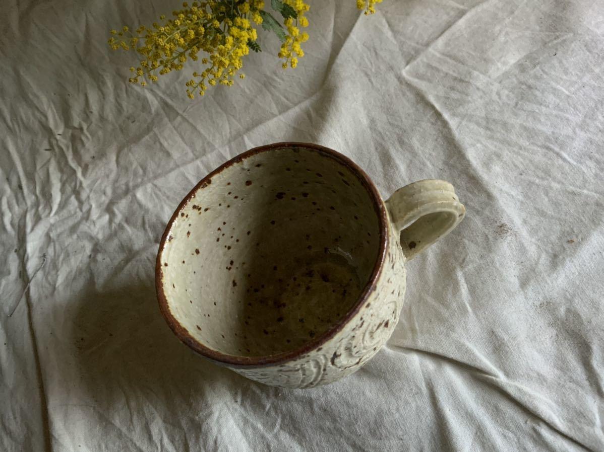 175 白御影土 マグカップ コーヒーカップ ティーカップ オブジェ インテリア 陶器 釉薬 珈琲 食器_画像3