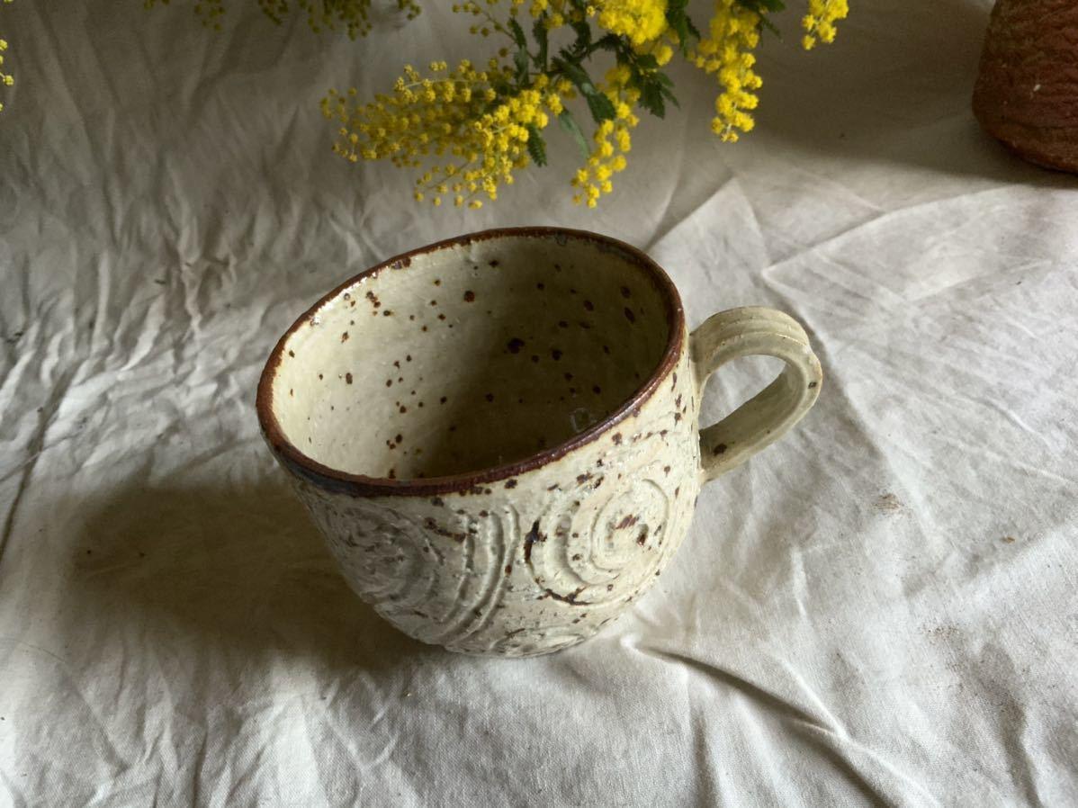 175 白御影土 マグカップ コーヒーカップ ティーカップ オブジェ インテリア 陶器 釉薬 珈琲 食器_画像2
