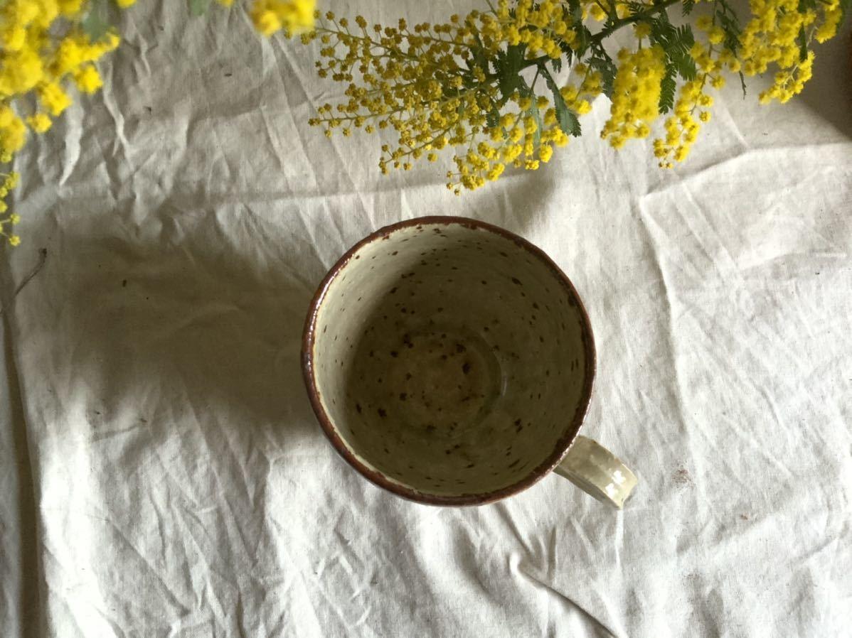 175 白御影土 マグカップ コーヒーカップ ティーカップ オブジェ インテリア 陶器 釉薬 珈琲 食器_画像4