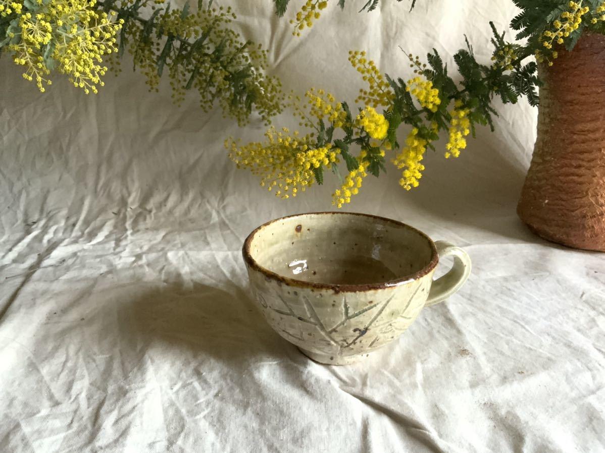 176 白御影土 マグカップ コーヒーカップ ティーカップ オブジェ インテリア 陶器 釉薬 珈琲 食器_画像1