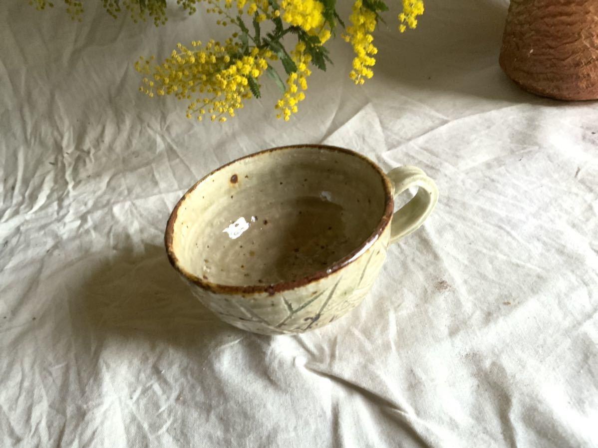 176 白御影土 マグカップ コーヒーカップ ティーカップ オブジェ インテリア 陶器 釉薬 珈琲 食器_画像2