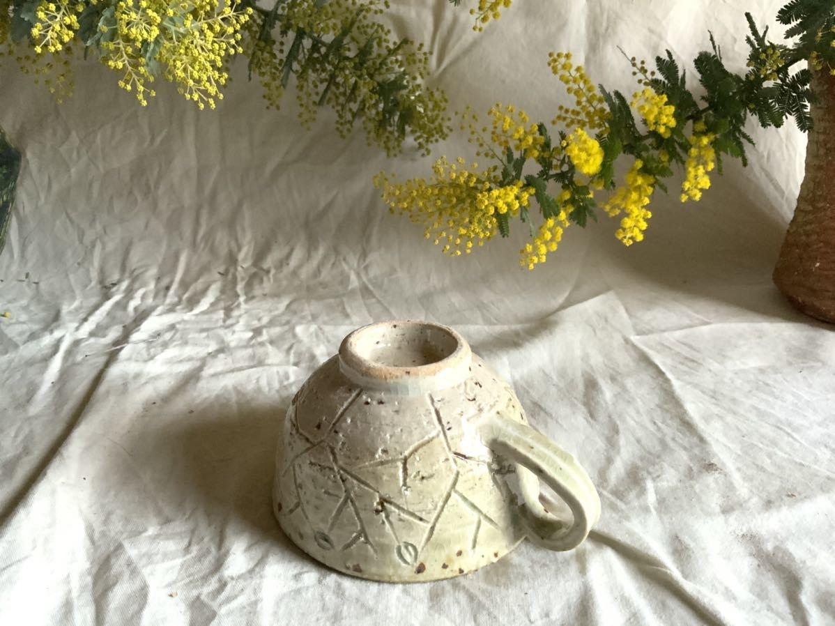 176 白御影土 マグカップ コーヒーカップ ティーカップ オブジェ インテリア 陶器 釉薬 珈琲 食器_画像4