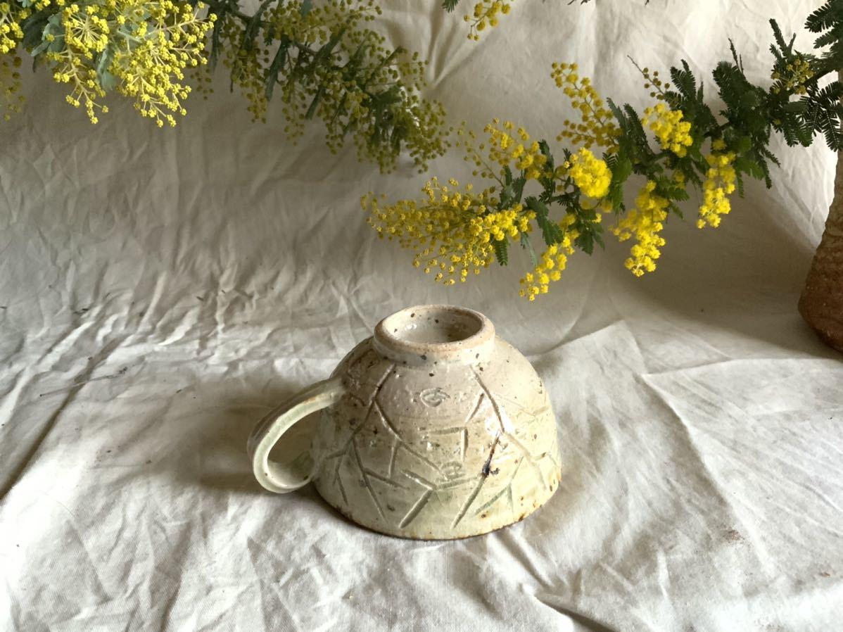 176 白御影土 マグカップ コーヒーカップ ティーカップ オブジェ インテリア 陶器 釉薬 珈琲 食器_画像5
