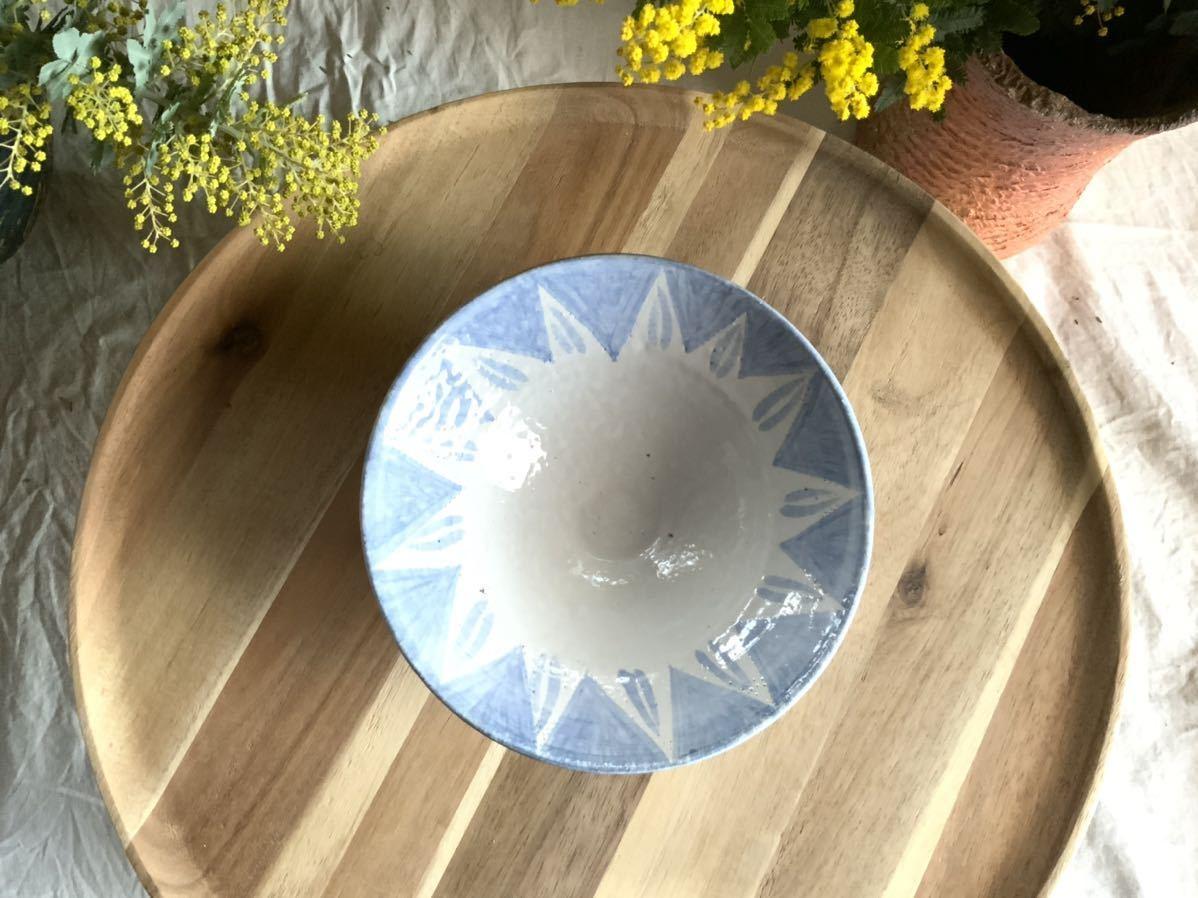 183 ブルー中皿 パスタ皿 カレー皿 プレート オブジェ インテリア 陶器 釉薬 食器_画像3