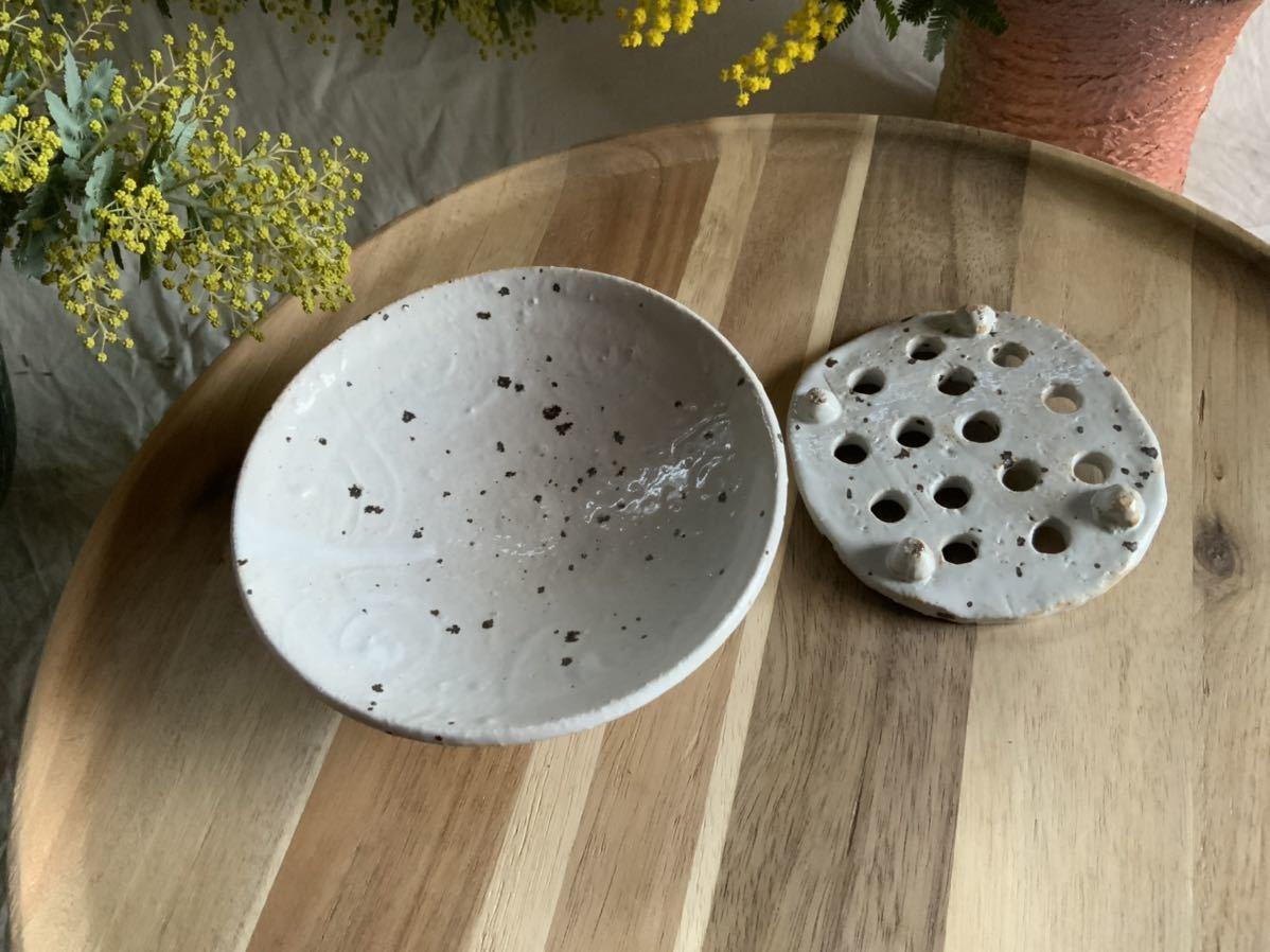 184 石鹸置き ソープデッシュ 石鹸皿 プレート オブジェ インテリア 陶器 釉薬 食器_画像4