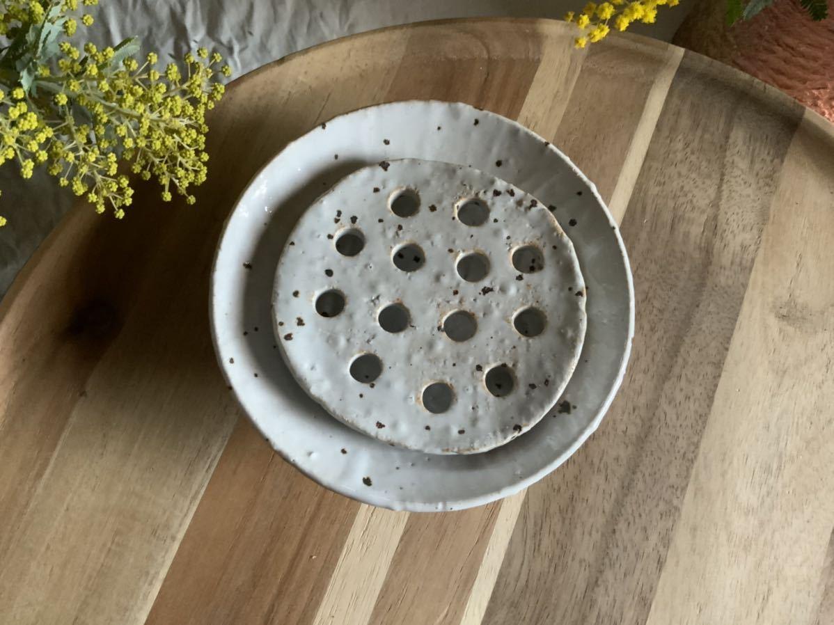 185 石鹸置き ソープデッシュ 石鹸皿 プレート オブジェ インテリア 陶器 釉薬 食器_画像3