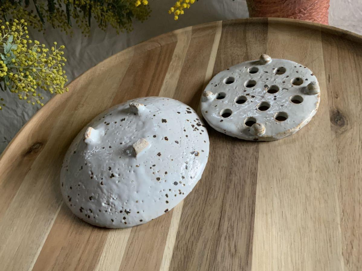 185 石鹸置き ソープデッシュ 石鹸皿 プレート オブジェ インテリア 陶器 釉薬 食器_画像5