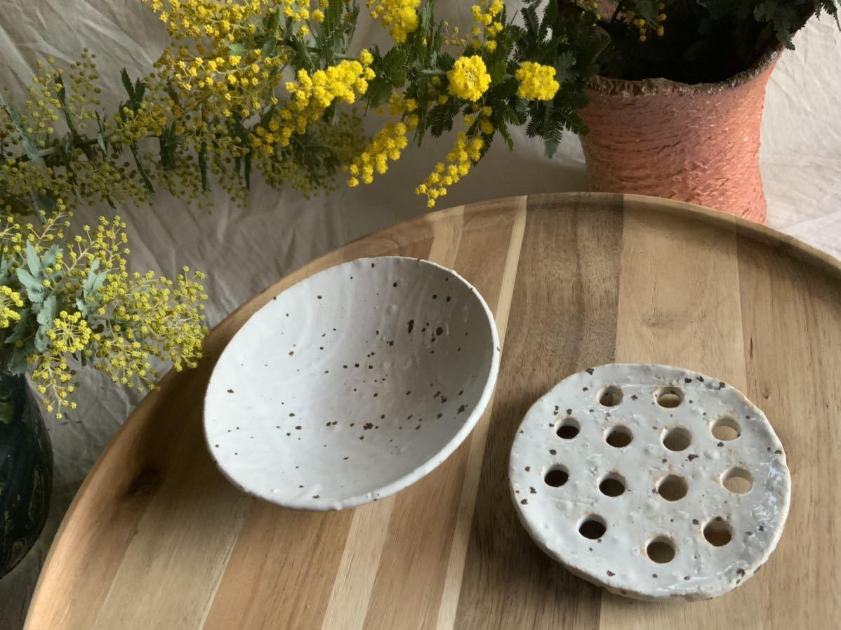 185 石鹸置き ソープデッシュ 石鹸皿 プレート オブジェ インテリア 陶器 釉薬 食器_画像4