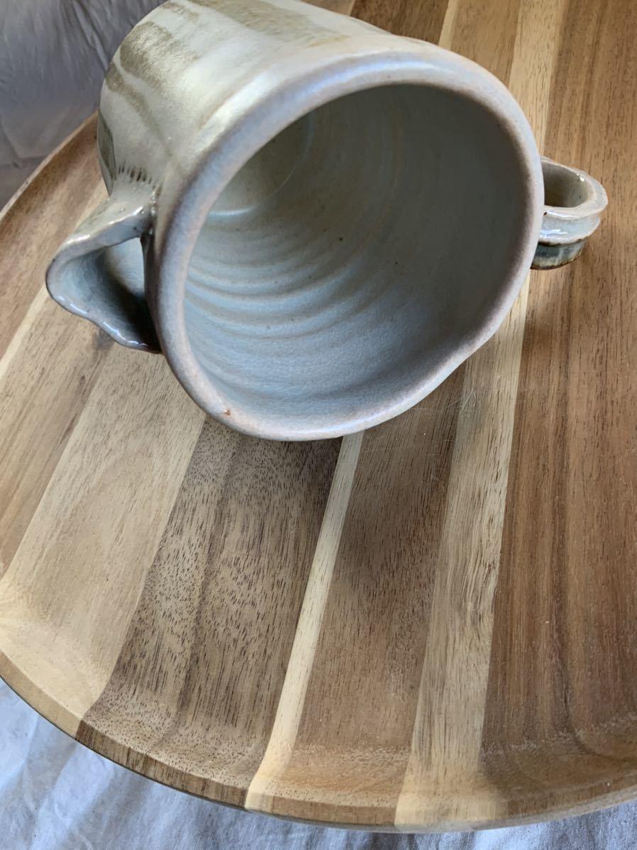 124 ピッチャー ストライプ柄 オブジェ インテリア 陶器 和食器 釉薬_画像7