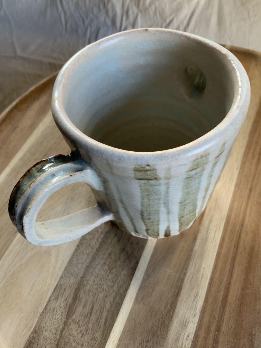 124 ピッチャー ストライプ柄 オブジェ インテリア 陶器 和食器 釉薬_画像4