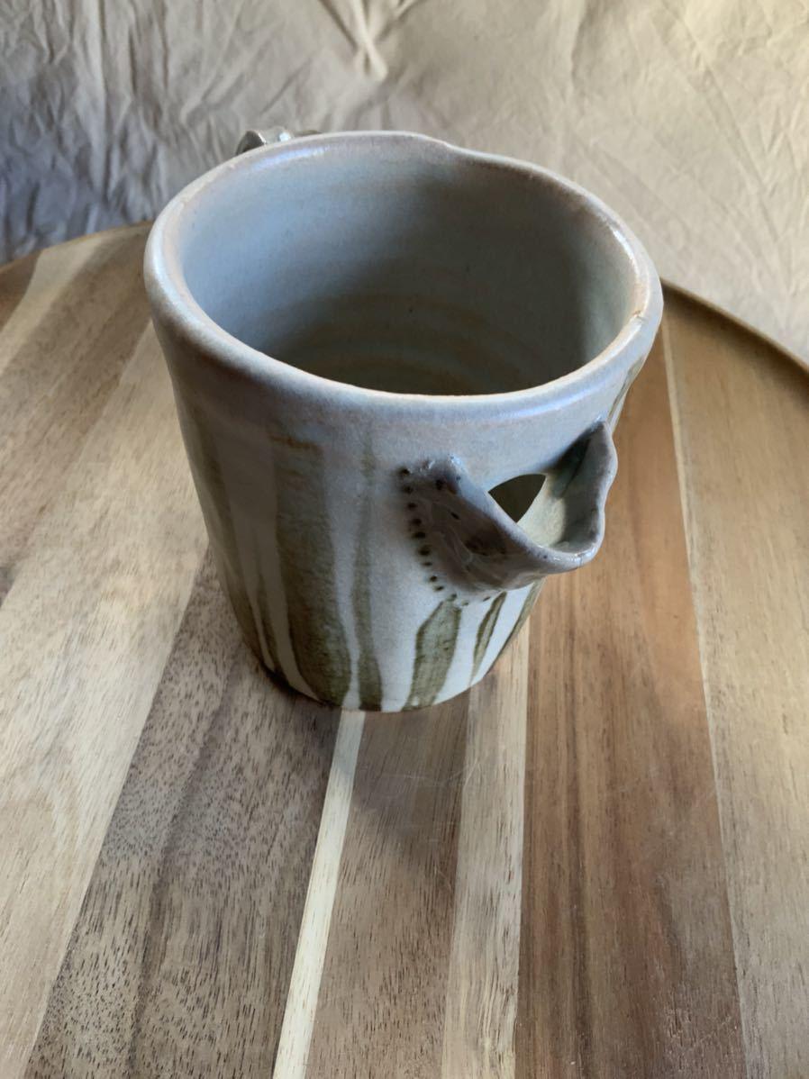 124 ピッチャー ストライプ柄 オブジェ インテリア 陶器 和食器 釉薬_画像5