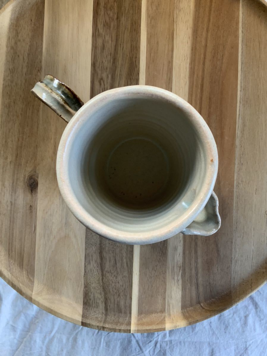 124 ピッチャー ストライプ柄 オブジェ インテリア 陶器 和食器 釉薬_画像6