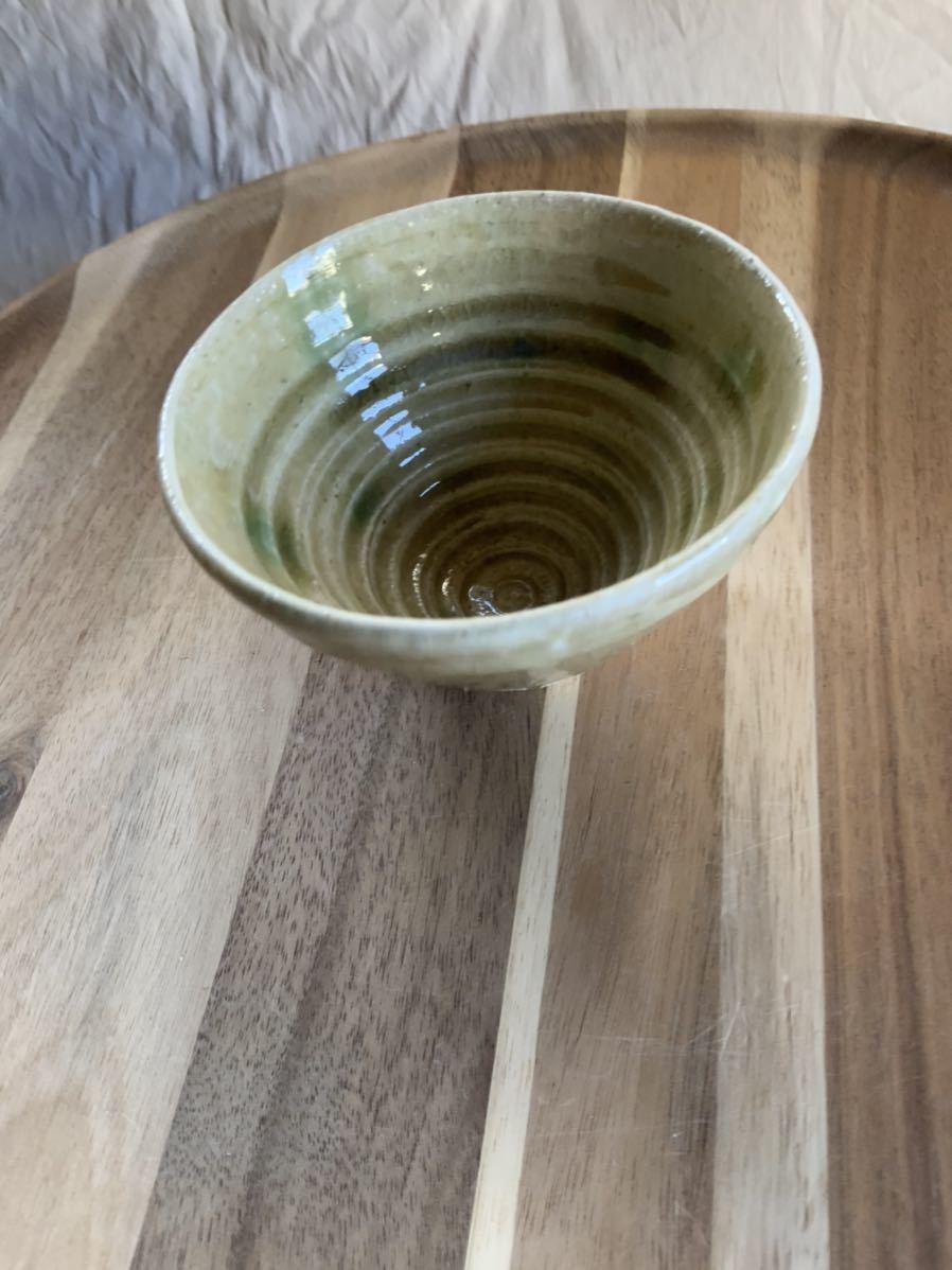 129 黄瀬戸 小鉢 茶碗 飯椀 メシ椀 めし椀 オブジェ インテリア 陶器 和食器 釉薬 お茶碗_画像2