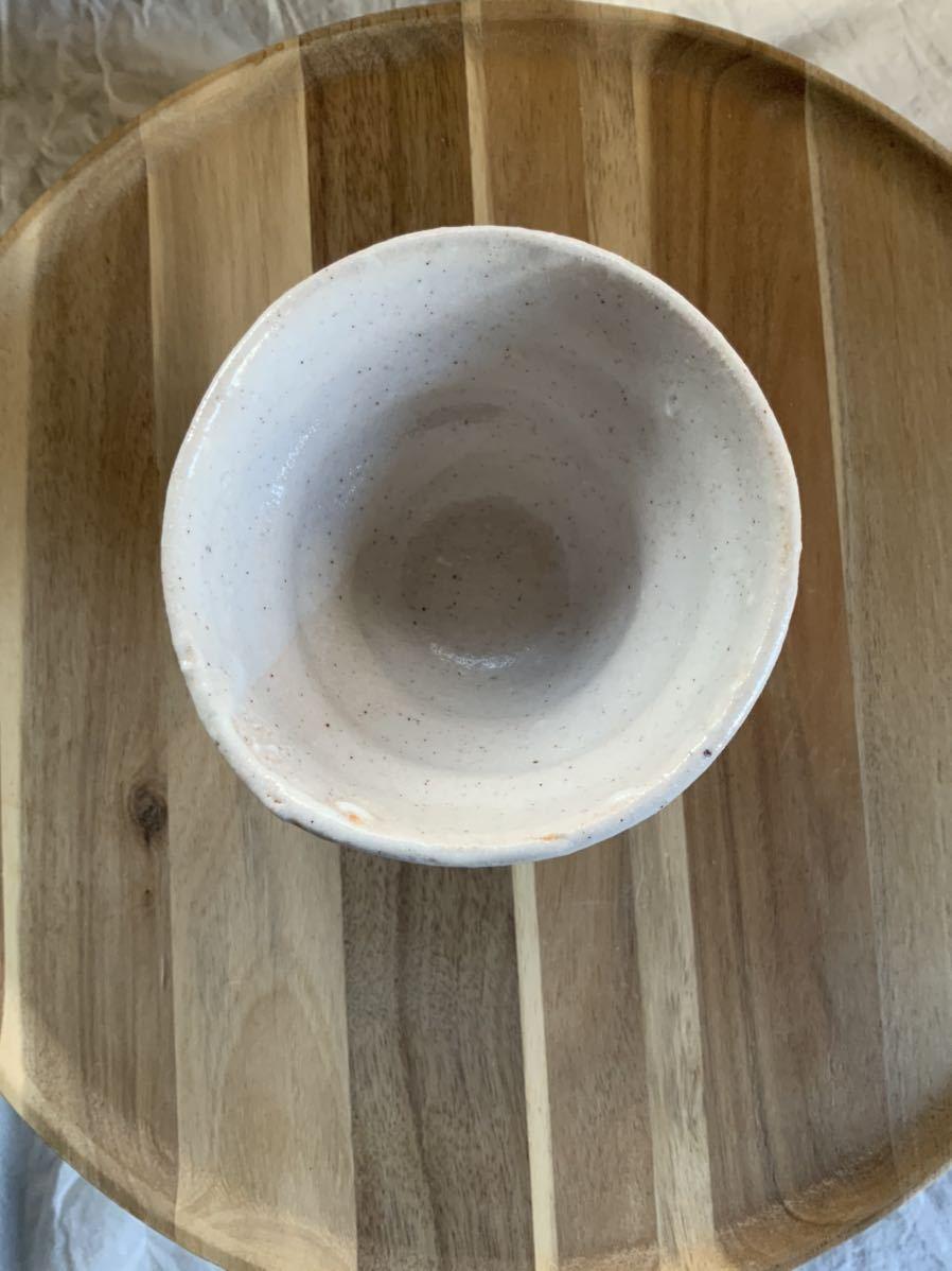 136 ゴブレット 高杯 盃 辰砂 酒器 オブジェ インテリア 陶器 和食器 釉薬_画像3