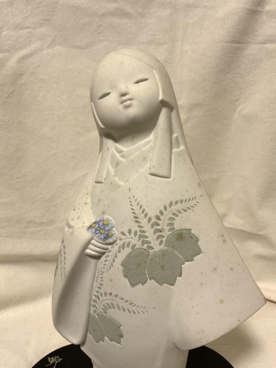 G 博多人形 野菊 文夫 のぎく ふみお 郷土玩具 陶器製 民芸品 土人形_画像2