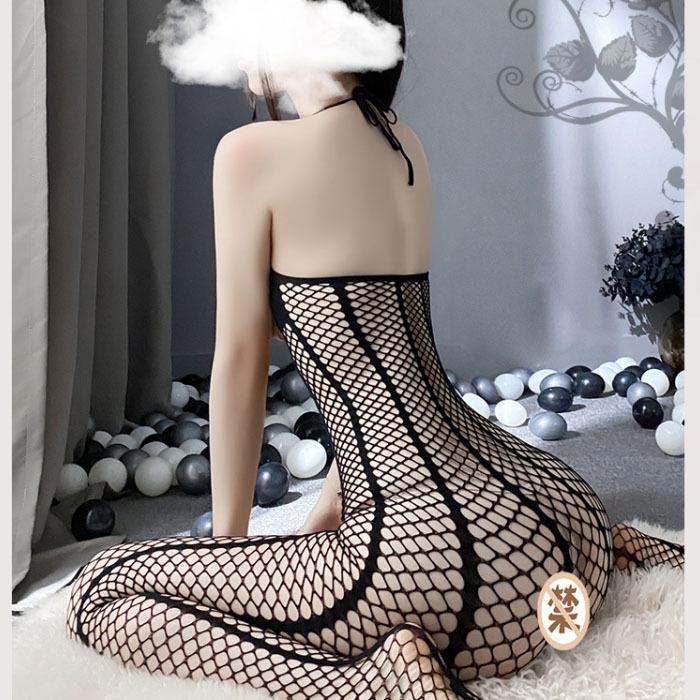 B425 セクシーランジェリー 透け透けメッシュ オープンバスト オープンクロッチ 全身タイツ コスプレ衣装 ナイトウエア_画像7