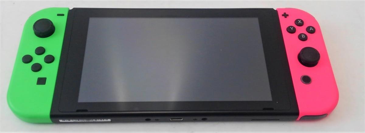 【中古品】 Nintendo Switch スプラトゥーン2セット ニンテンドースイッチ 本体 【034-210213-DS-06-IZU】_画像3