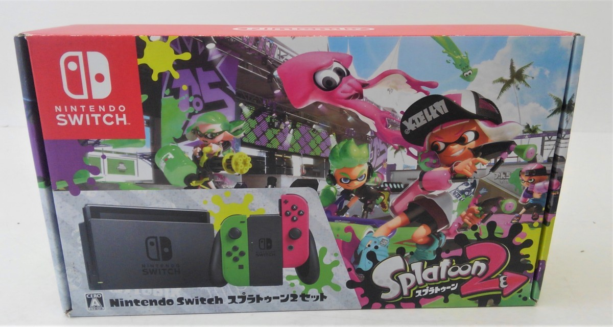 【中古品】 Nintendo Switch スプラトゥーン2セット ニンテンドースイッチ 本体 【034-210213-DS-06-IZU】_画像1