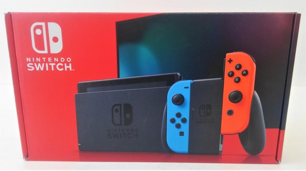 【中古品】 Nintendo Switch 本体 ニンテンドースイッチ Joy-Con (L) ネオンブルー/ (R) ネオンレッド 【034-210213-DS-05-IZU】